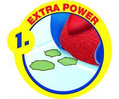 Vileda 3Action SuperMocio Set Mocio con Manico e Secchio Strizzatore, Plastica, Rosso, 45x33x32 cm