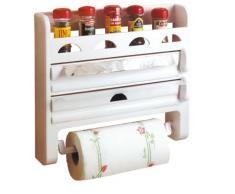Toyma, 555, Scaffale portaspezie con portarotolo da cucina