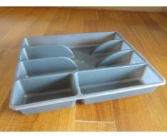 Ikea Rationell Variera - Inserto portaposate, per tenere in ordine il cassetto, colore: Grigio scuro
