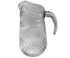 Brocca In Vetro Cristallo effetto acqua caraffa 1,3 L Caraffa in vetro con beccuccio