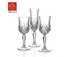 RCR, Set Calici 18 Pezzi (6 Calici Champagne + 6 Calici Acqua + 6 Calici Vino)