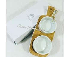 Idea bomboniera Matrimonio antipastiera Tagliere per Olive stuzzichini sposi (Bomboniera con Scatola No Confezione)