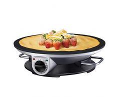 Crepiera Piastra per Crepe 1200W Temperatura Regolabile, Waffle Cone Maker Trebs Macchina Piastra Padella, Antiaderente per Frittelle Coni Cono Gelato Biscotti Rotolo Torta Griglia Ferro Forno