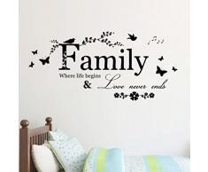 Wall Sticker, DDLBiz® Adesivi Murales, Carta da Pareti famiglia Decorazione Murali da Parete