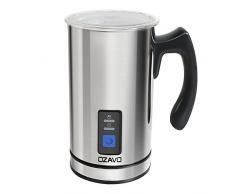 Argento MACOM Just Kitchen 863 Schiuma /& Latte Montalatte a Batterie in Acciaio Inox