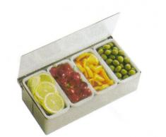 Paderno 41782-06 Porta Spezie 6 Vaschette, Acciaio Inox