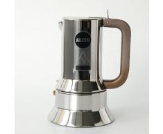 Alessi 9090/6 Caffettiera con Fondo a Induzione di Design in Acciaio Inox, 6 Tazze