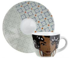 Ritzenhoff My little Darling, Tazza da Espresso, Porcellana, con Piattino, 80 ml, Design 2013, Angela Schiewer, 1580104