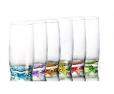 6 bicchieri per acqua, succo, Coral, long drink, ADR25