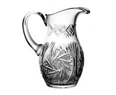 Crystaljulia 3014 – Bicchieri brocca per succo cristallo al piombo motivo a stelle, 1 l