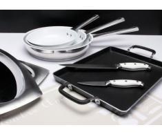 Quid My Club Friends 5738116 - Padella per friggere in acciaio inossidabile e ceramica, colore: bianco, 28 cm