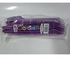 Forchette in plastica viola 20 pz Dopla