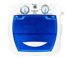 oneConcept SG002 mini lavatrice portatile lavabiancheria campeggio (250 Watt, 2,8 KG, risparmio energetico)