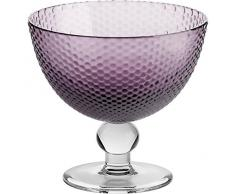 Coppe per gelato, coppe in vetro~BUBBLES~ Viola, 11 cm, Vetro trasparente(GELATO VERO powered by CRISTALICA)