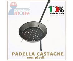 PADELLA CASTAGNE CON PIEDI DIA 26 CM CUOCI CASTAGNA CALDARROSTE MADE IN ITALY