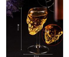 ossa Warrior teschio con artiglio Golbet bicchiere in vetro medievale Skeleton calice Skull Cup Dragon artiglio a doppia parete per bevande calice cristallo