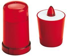 VELAMP Lumino votivo LED a Batteria. Ideale per lesterno. Design Esclusivo. più di 15 Giorni di Luce, Rosso