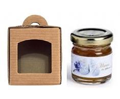 25 Scatole per 1 vasetto miele/marmellata da 250 gr. mm.70x70x85