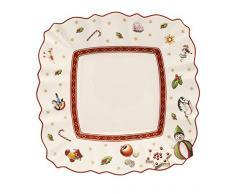 Villeroy & Boch Toys Delight Piatto da Pane, Quadrato, Porcellana, Bianco/Multicolore, 17x17x0.1 cm
