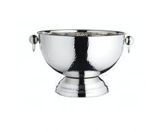 BarCraft Hammered Secchio per Bottiglia di Champagne, Acciaio Inossidabile, Argento, 37 x 37 x 25 cm