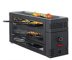 Spring 3367710002 Raclette 6 Nero con piastra grill in alluminio EU