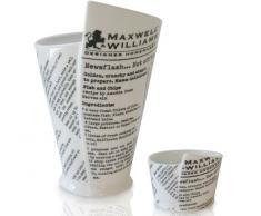 Maxwell Williams P9103 White Basics - Tazza e ciotola per patatine, in confezione regalo, porcellana
