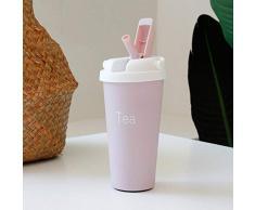 Liseng Tazze Tazze da caff/è Riutilizzabili nel Fibra di bamb/ù Tazza da Viaggio Isolamento 430ML Tazza da Bere Rosa