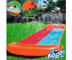 Best Way- Scivolo H20 Go Doppio Cm 549, Collegabile alla Canna del Giardino 664, Multicolore, 6942138936339