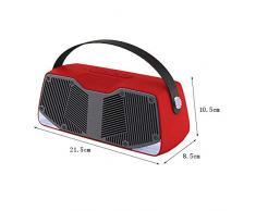 Altoparlante Bluetooth impermeabile per doccia, perfetto per piscina, doccia, barca, spiaggia, vasca idromassaggio, esterno e interno Rosso