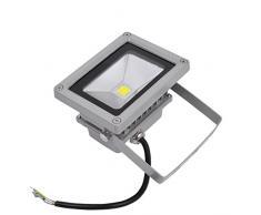 Leetop 3 X 10W LED Faretto Luce di Inondazione Lampade a Candela da Parete Faro Faretto Esterno Bianco Freddo IP65 Impermeabile