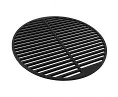 Barbecue in ferro battuto, massiccio e smaltato, di forma circolare, diverse misure a scelta, per griglia a carbone, a legna, a gas e molto altro