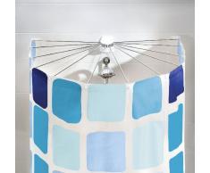 Kleine Wolke 3325100000 Telaio a ombrello con 12 bracci per tenda doccia, 94x71cm, Bianco