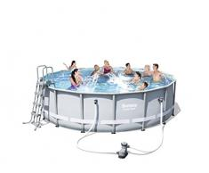 Bestway 56451 Piscina Power Steel Frame Rotonda, 488x122 cm