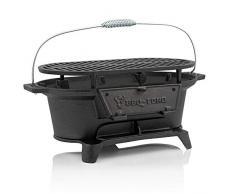 BBQ-Toro Pentola in ghisa con griglia | 50 x 25 x 23 cm | Barbecue da campeggio a carbone di legna Hibachi Style