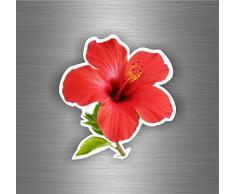 Adesivi per auto, moto, biker, per macbook, motivo: ibisco, r9 albero pianta fiore