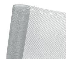 Telo frangivento oscurante per recinzioni ombreggiante all'85% larghezza: 1,5 m colore: grigio argento, vendita al metro