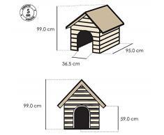 Curver 12-921177 - Cuccia Per Cani in PVC in resina, Beige/Marrone, 95 x 99 x 99 cm