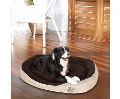 Songmics XL 90 x 68 x 15 cm Letto Lettino Cuscino per Cani oxford Tessuto con Velluto Cuccia Divano Cane Pet Animali PGW43M
