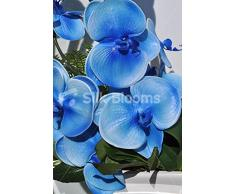 Real Blue Touch-Orchidea artificiale in vaso, con motivo floreale