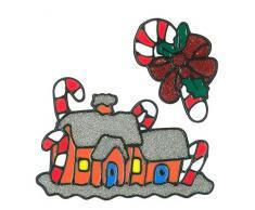 Finestra MagicGel immagini Natale decorazione – Casetta di pan di zenzero (16 x 17 cm), finestre per il fai da te con bambini