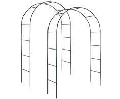 TecTake Arco giardino in ferro per rampicanti Arco per rosa decorationi | - disponibile in diverse quantità- (2 Pezzi | no. 402660)