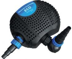 Jebao OME 5000 Eco Pompa Sommergibile per Laghetto Giardino, Cascate, Fontane e Filtri Esterni 5000L/H, 2 ingressi.