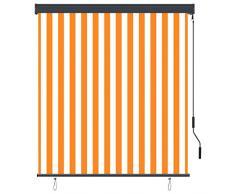 Goliraya Tenda a Rullo per Esterno Antracite/Blu e Bianco/Bianco e Arancione/Crema,Tenda da Sole Avvolgibile,Tenda da Sole per Esterno,Tenda da Sole per Gazebo e Pergolato 60/80/100/120/140x250 cm