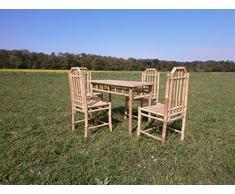 Bambù mobili da giardino balcone mobili balcone Set di mobili sedia mobili in legno per esterni da giardino gruppo di sedie