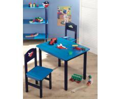 Zeller 13472 Set tavolo (60x48x45 cm) e sedie (28x26x54 cm) per bambini, 3 pezzi, in MDF
