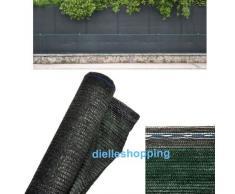 Rete OMBREGGIANTE/Ombra 90% H.4 mt X Lunghezza 10 Metri LINEARI, FRANGISOLE/FRANGIVISTA Telo Verde Scuro Giardino OSCURAMENTO 90%