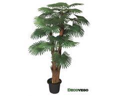 Palmizio Palma Pianta Albero Artificiale Valse Plastica 180cm Decovego