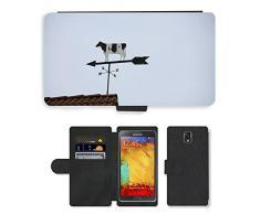GoGoMobile, cellulare, carte, Custodia a portafoglio in similpelle e M00123861 Animal Cow-Segnavento a segmenti oscillanti, per Samsung Galaxy Note 3 III N9000/N9002/N9005