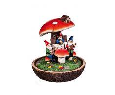 Nuovo Creative gnomo Duet illuminato giardino statua