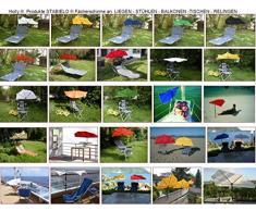 Hollysun Beachway-scomparti-ombrellone - rosso + in alluminio da pavimento mult + Exklusiv rivestiti con poliestere 160 G/m² - ZANGENBERG-HUSUM + tavolo - sedia - balcone fermagli 59 SC con protezione in gomma copripunta + Windtampen